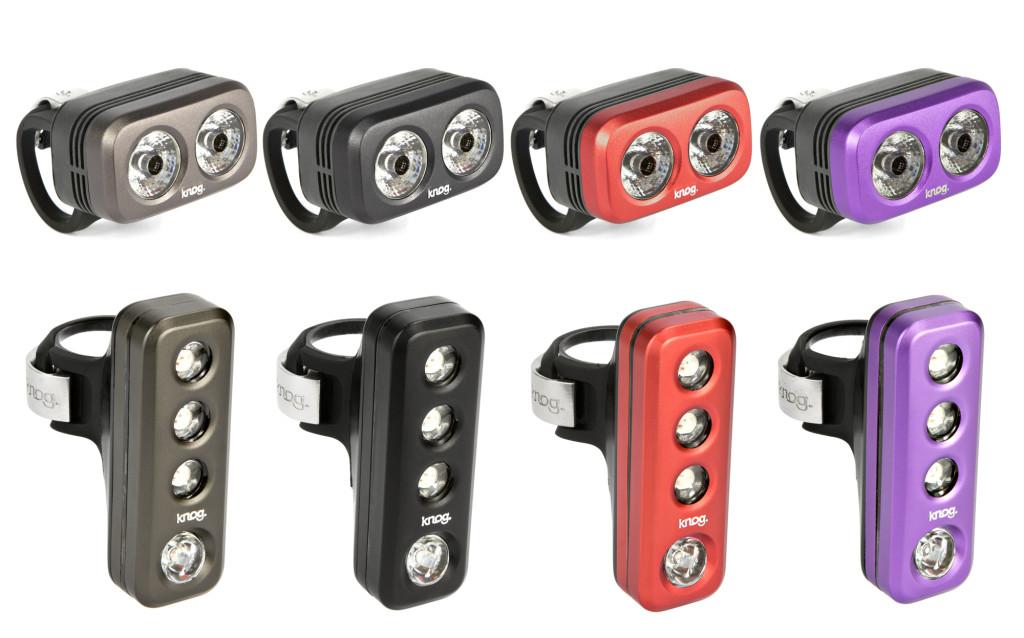 Blinder ROAD vorn (oben) und hinten (unten) - in allen 4 verfügbaren Farben (vlnr): Gunmetal, Black, Red, Grape.